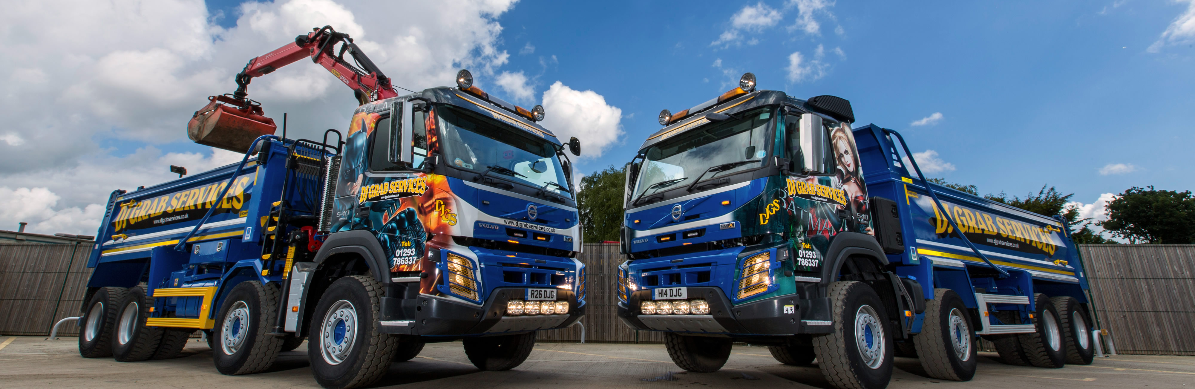 Grab and Tipper lorry hire for Surrey Sussex and London